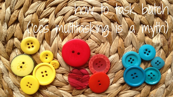 Multitasking wastes precious time you could be spending creating.